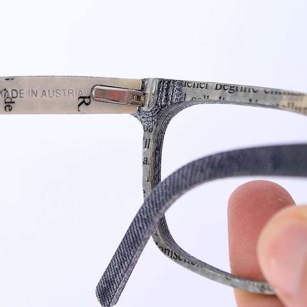 Upcycling Jeans Brille