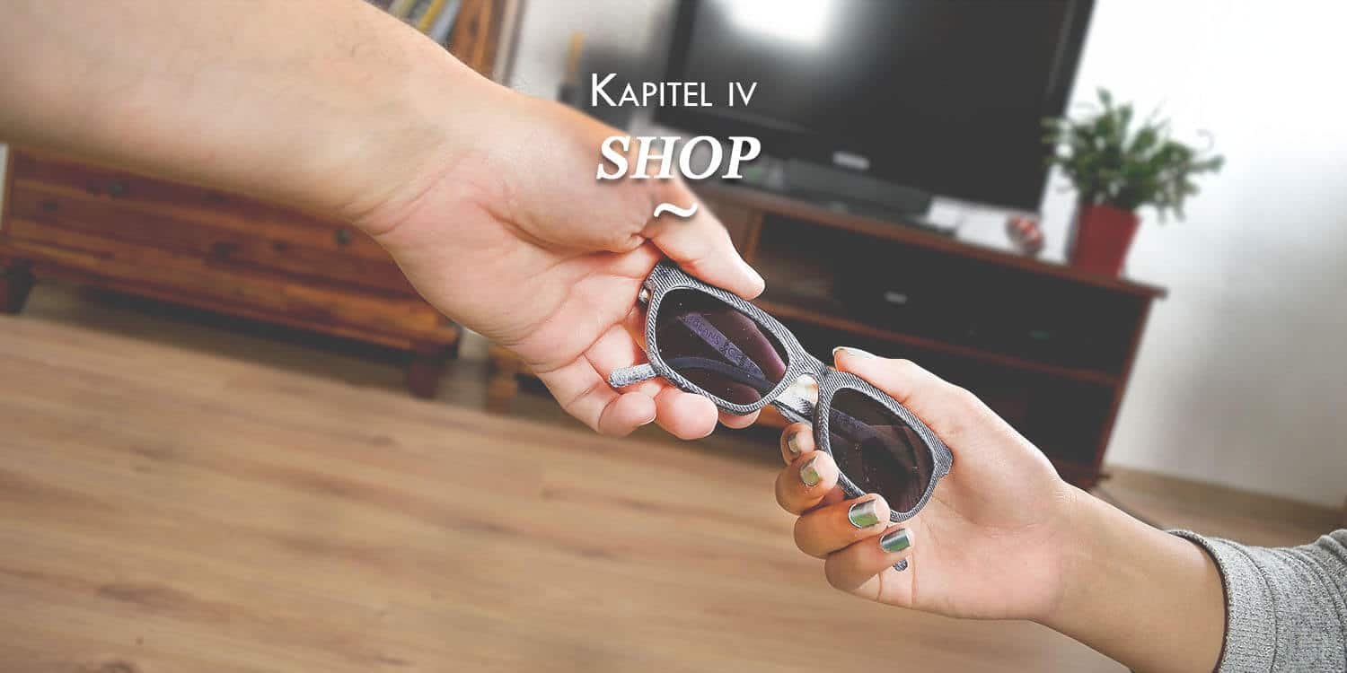 Upcycling Shop Jeans Brille